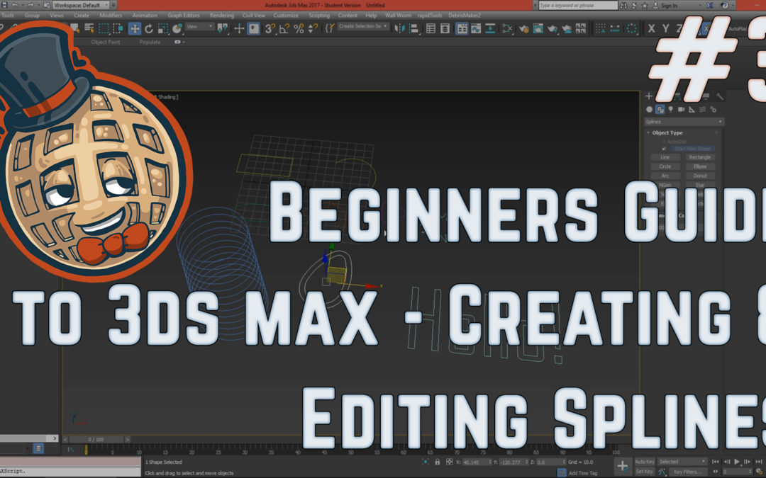 3dsmax Tutorial – Beginners Guide #3 – Creating and Editing Splines