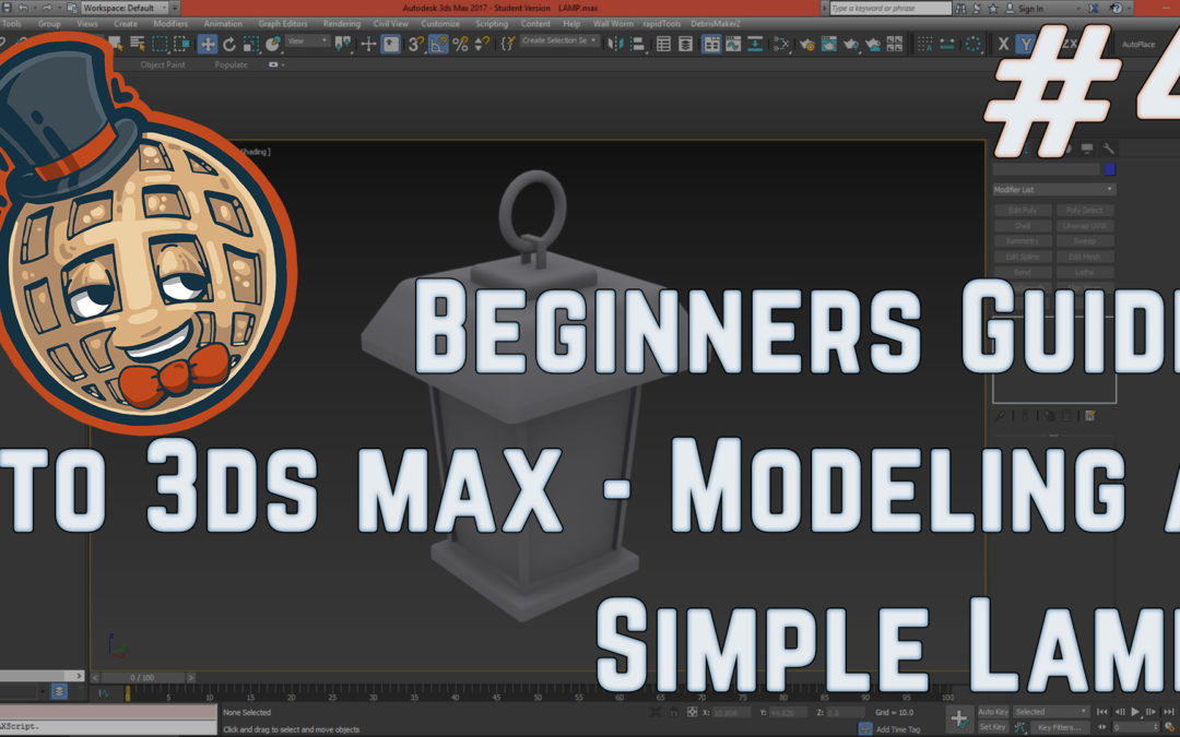 3dsmax Tutorial – Beginners Guide #4 – Creating a Simple Model LAMP